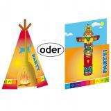 """Einladungskarten """"Indianer"""" mit Umschlag 8er Pack"""