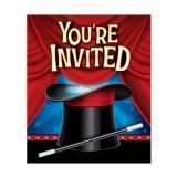 """Einladungskarten """"Showtime"""" mit Umschlägen 8er Pack"""