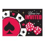 """Einladungskarten """"Las Vegas"""" mit Umschlag 8er Pack"""