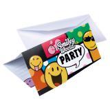 """Einladungskarten """"Lustige Smilies"""" 6er Pack"""