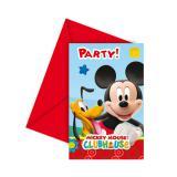 """Einladungskarten """"Micky Maus Clubhaus"""" 6er Pack"""