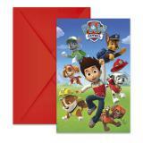 """Einladungskarten """"Mutige Paw Patrol"""" mit Umschlag 6er Pack"""