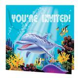 """Einladungskarten """"Ocean Party"""" 8er Pack"""