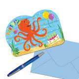 """Einladungskarten """"Party im Meer"""" mit Umschlag 8er Pack"""