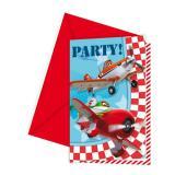 """Einladungskarten """"Planes"""" 6er Pack"""