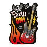"""Einladungskarten """"Rock Party"""" 32 tlg."""
