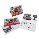 """Einladungskarten """"Schnelle Feuerwehr"""" mit Umschlag 8er Pack"""