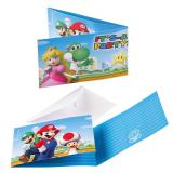"""Einladungskarten """"Super Mario"""" mit Umschlägen 8er Pack"""
