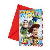 """Einladungskarten """"Toy Story"""" 6er Pack"""