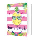 """Einladungskarten """"Tropischer Geburtstag"""" mit Umschlägen 8er Pack"""