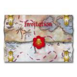"""Einladungskarten """"Wilde Piraten"""" mit Umschlag 8er Pack"""