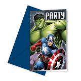 """Einladungskarten """"Avengers Assemble"""" mit Umschlag 6er Pack"""