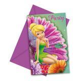 """Einladungskarten """"Die Welt der Tinkerbell"""" mit Umschlag 6er Pack"""