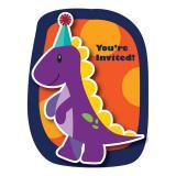 """Einladungskarten """"Kleiner Dino"""" mit Umschlag 8er Pack"""