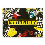 """Einladungskarten """"Party-Zone"""" 6er Pack"""