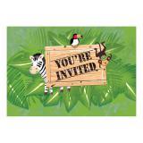 """Einladungskarten """"Safari Tour"""" mit Umschlag 8er Pack"""