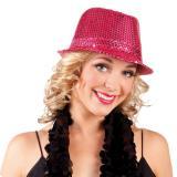 Eleganter Pailletten-Hut -pink