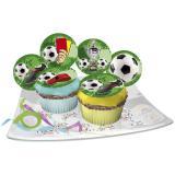 """Essbare Muffin-Aufleger """"Fußball"""" 12er Pack"""