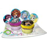 "Essbare Muffin-Aufleger ""Monster High"" 12er Pack"