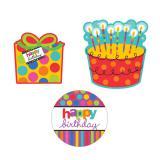 Raumdeko Geburtstagsmotive Happy Dots & Stripes 27 cm 30-tlg.
