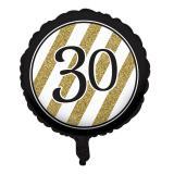 "Folien-Ballon ""Black & Gold 30"" 46 cm"