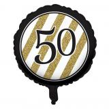 "Folien-Ballon ""Black & Gold 50"" 46 cm"