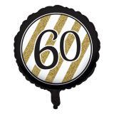 "Folien-Ballon ""Black & Gold 60"" 46 cm"