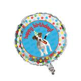 "Folien-Ballon ""Happy Birthday-Dog"" 45 cm"