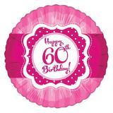 "Folien-Ballon Happy Birthday ""Pretty Pink 60"" 45 cm"