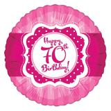 "Folien-Ballon Happy Birthday ""Pretty Pink 70"" 45 cm"