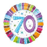 """Folien-Ballon 70 """"Strahlender Geburtstag"""" 45 cm"""
