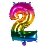 Folien-Ballon in Zahlenform Regenbogen 36 cm-2