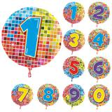 "Folien-Ballon ""Happy Crazy Birthday"" mit Zahl 43 cm"