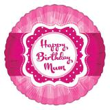 "Folien-Ballon Pretty Pink ""Happy Birthday Mum"" 45 cm"