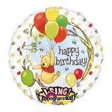 """XL Folien-Ballon mit Musik """"Winnie Puuh"""" 71 cm"""