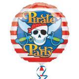 """Folien-Ballon """"Piraten-Party"""" 43 cm"""