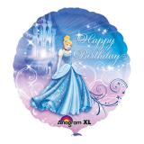 "Folienballon ""Cinderella - Happy Birthday"" 43 cm"