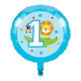 "Folienballon ""Dschungel Boys 1. Geburtstag"" 43,5 cm"