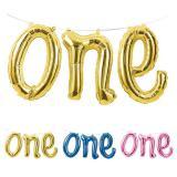 "Folienballon-Girlande ""Number one"" 1,52 m"