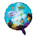 "Folien-Ballon Happy Birthday ""Ocean Dream"" 45 cm"