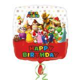 "Folienballon Happy Birthday ""Super Mario"" 43 cm"