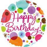 "Folienballon ""Happy Birthday-Feuerwerk"" 43 cm"