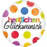 """Folienballon """"Herzlichen Glückwunsch"""" 43 cm"""