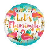 "Folienballon ""Let's Flamingle"" 43 cm"