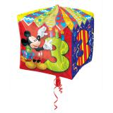 "Folienballon ""Micky Maus 3. Geburtstag"" 38 cm"