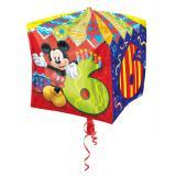 "Folienballon ""Micky Maus 6. Geburtstag"" 38 cm"