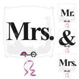 "Folienballon ""Mr & Mrs"" 45 cm"