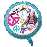 "Folienballon ""Peace & Rock"" 45 cm"