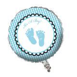 """Folienballon """"Süße Baby-Füße"""" hellblau 45 cm"""