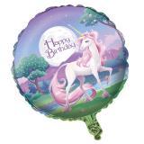 "Folienballon ""Zauberhafte Einhörner"" 45,7 cm"